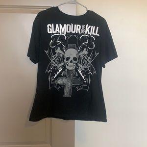 Men's Glamour of the Kill Skull and Cross T-Shirt